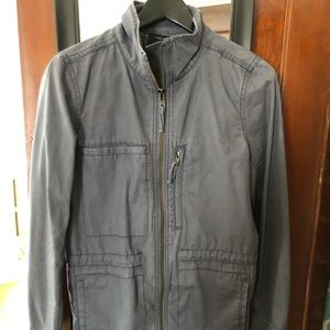 Madewell gray utility jacket. Great for fall!